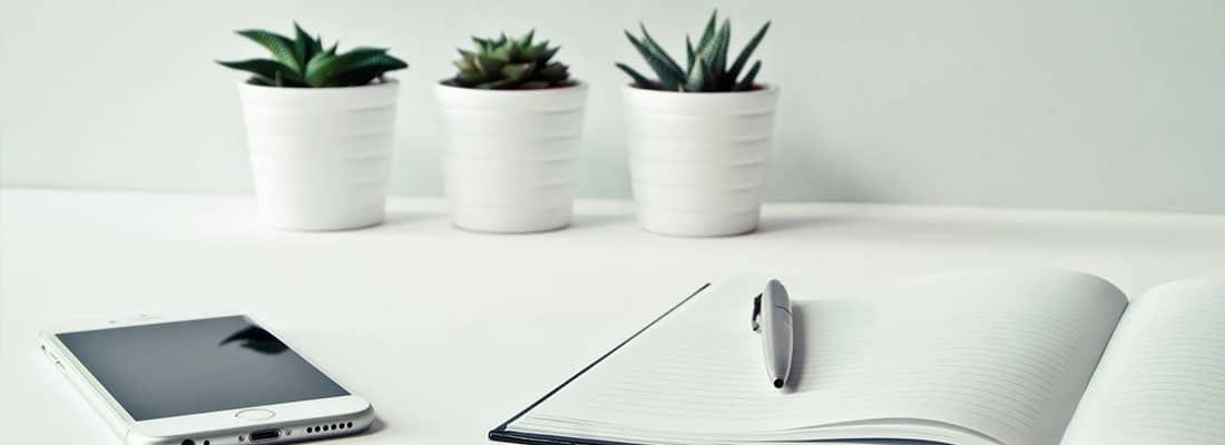 Plantes et cahier